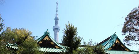 牛嶋神社と東京スカイツリー