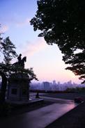 仙台城跡からのぞむ仙台市街