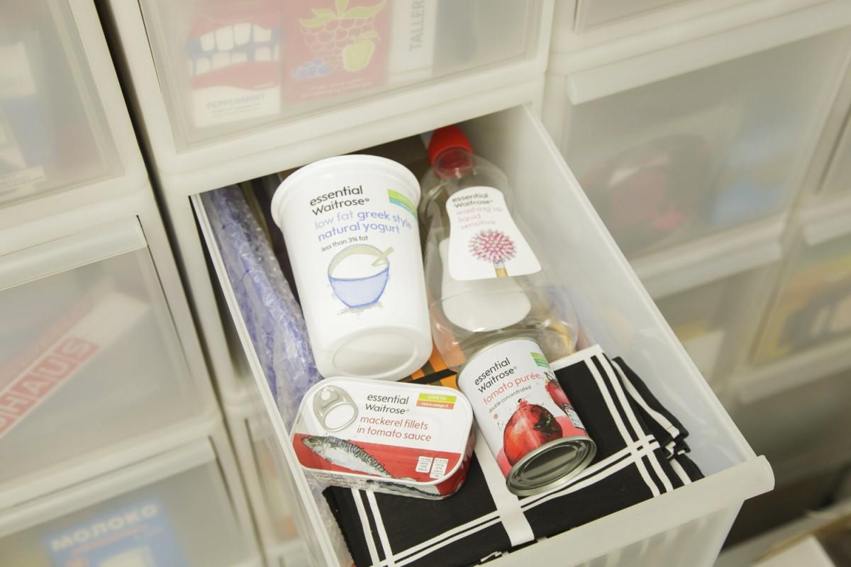 スケッチで描かれたパッケージが素敵という、イギリスのスーパー「Waitrose」の雑貨類。