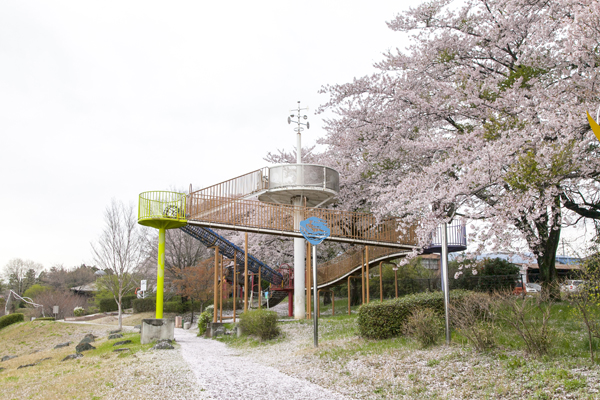 さらにその遊具が全3台。遊具の頂上からは、前橋市内も眺望できます。