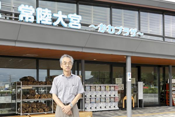 駅長の遠藤修平さん。とても優しく説明してくれました。