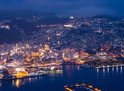 稲佐山から見た長崎市の夜景