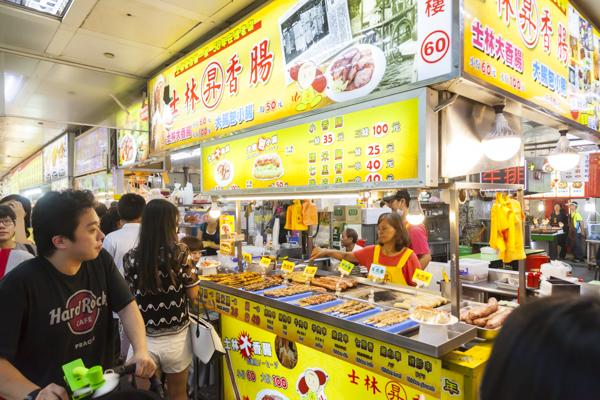士林昇香腸の店番号は60番(美食區入り口のマップを参照)。