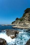 江の島の岩場