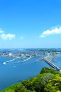 江の島から眺めた湘南海岸