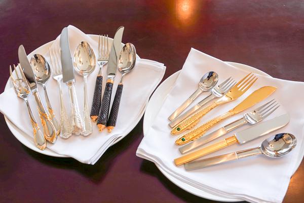 選べるカトラリーは全部で5種類。中にはノーベル賞授賞式の晩餐会で使われたものと同じカトラリーも。